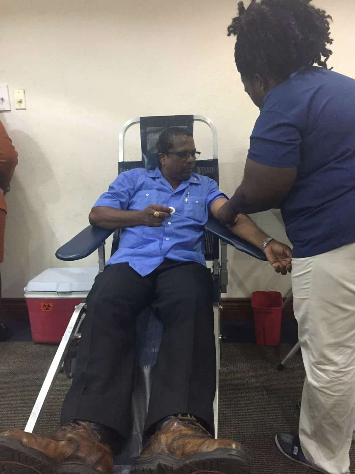 GBTI's Staff, Friends and Customers donate blood in observance of World Blood Donor Day